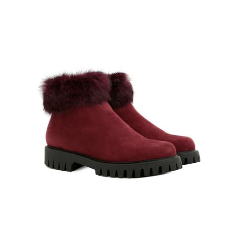 Ankle boots Burgundy/burgundy