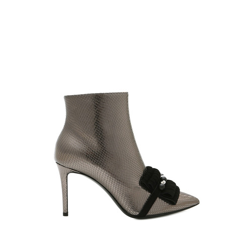 Ankle boots Steel/black