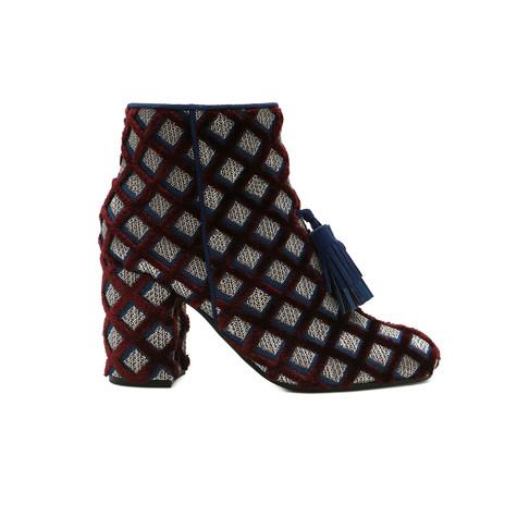 Ankle boots Burgundy/ocean/ocean