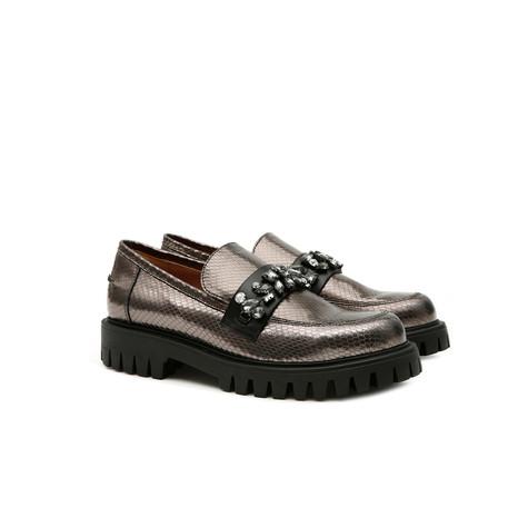 Loafers Steel/black