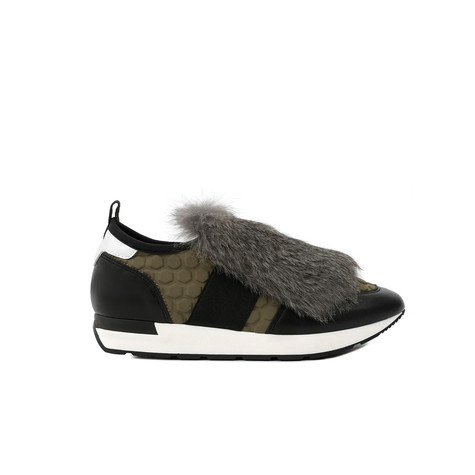 Sneakers Military green/black/white/lead/bla