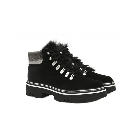 Ankle boots Black/steel/black