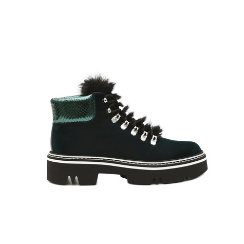 Ankle boots Bottle green/emerald green/black