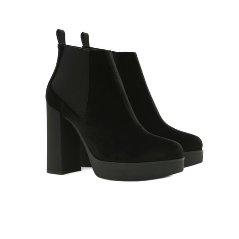 Low-cut boots Black/black