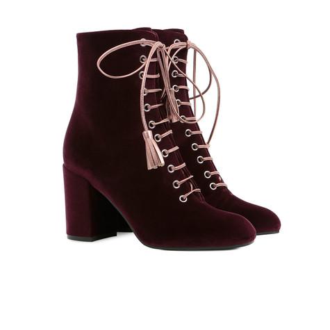 Ankle boots Burgundy/quartz
