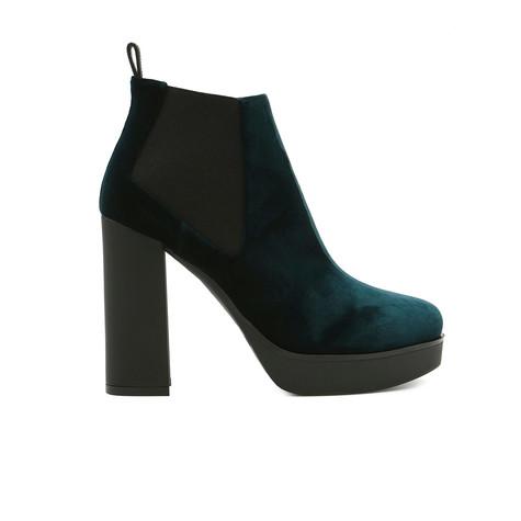 Low-cut boots Bottle green/black