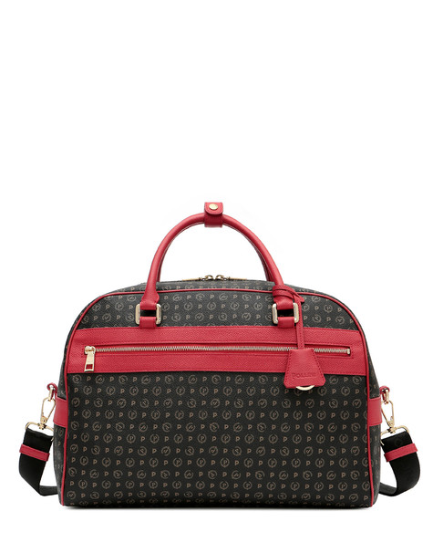 Weekend bag Black/laky red