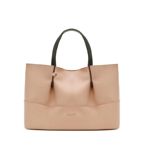 Shopping bag Nude-silver/grey
