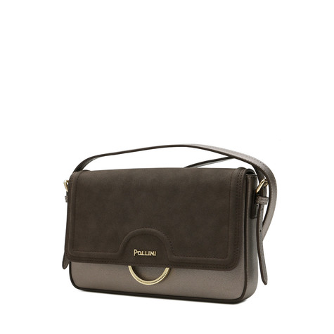 Shoulder bag Gun/brown