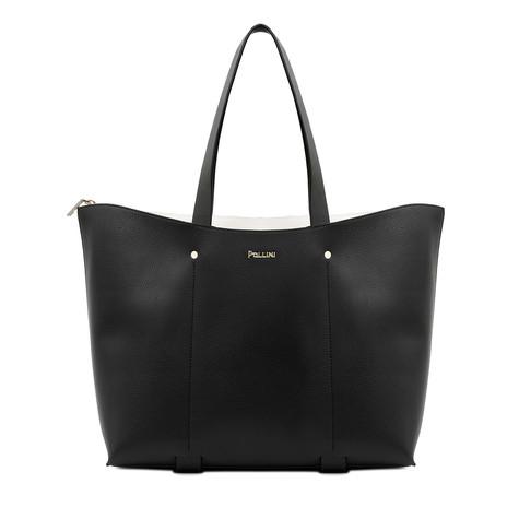 Shopping bag Black/white/black