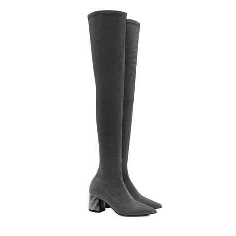 Over-the-knee boots Steel/steel
