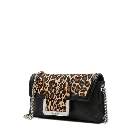 Clutch bag Black/black/leopard