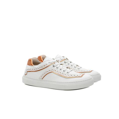 Sneakers Bianco/arancio