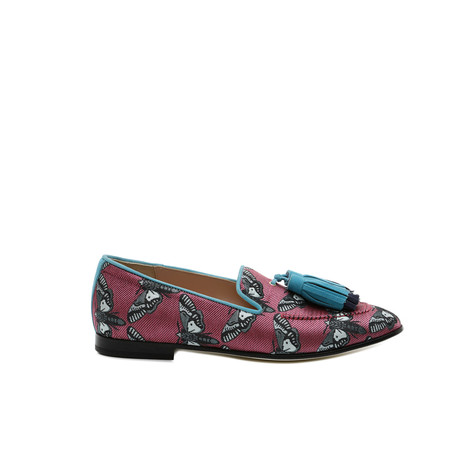 Loafers Cyclamen/turquoise/ocean
