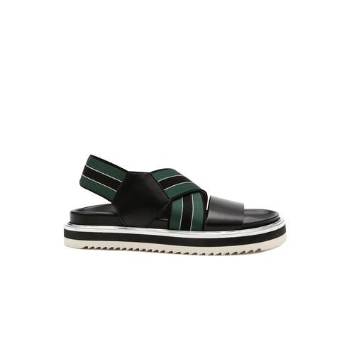 Sandali Nero/verde-nero