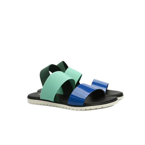 Sandali Bluette/menta/verde