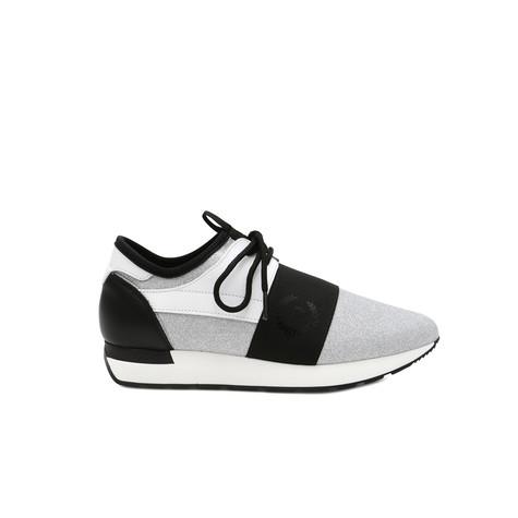 Sneakers Argento/bianco/nero