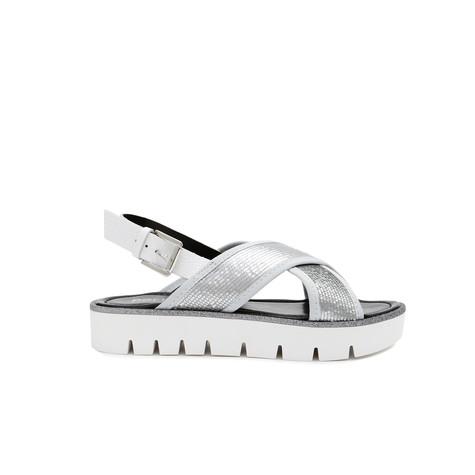 Sandali Argento/bianco