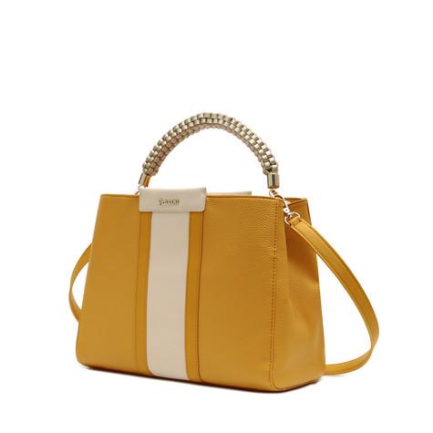 Handbag Yellow/yellow/ivory/platinum