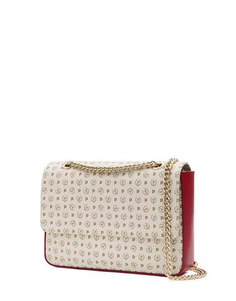 Hobo bag Ivory/laky red
