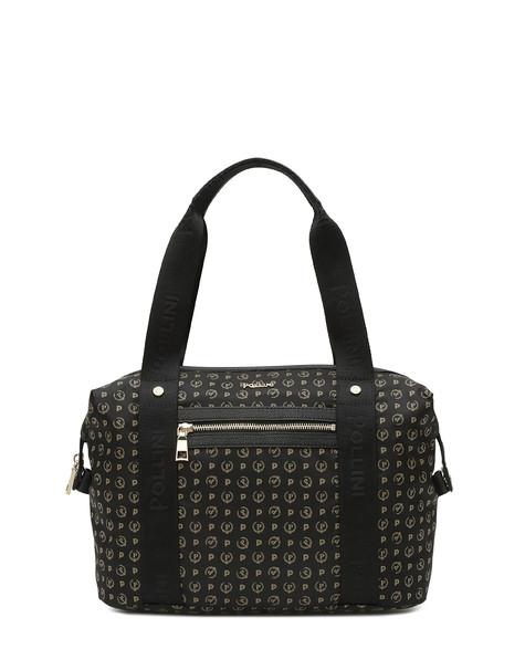 Heritage Logo Soft Medium Duffel Bag BLACK/BLACK