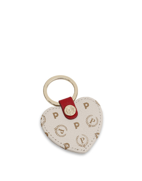Keyrings Ivory/laky red