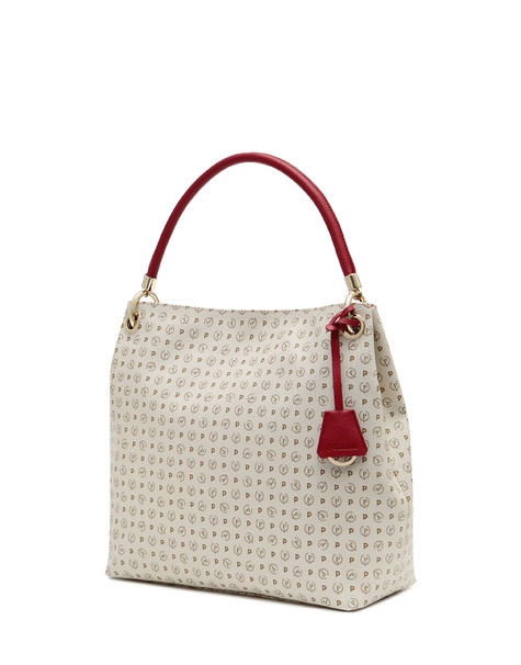 Shopping bag Ivory/laky red