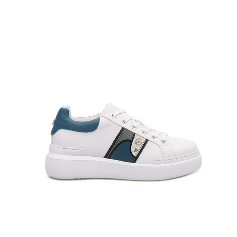 Sneakers Ivory/avio blue/white