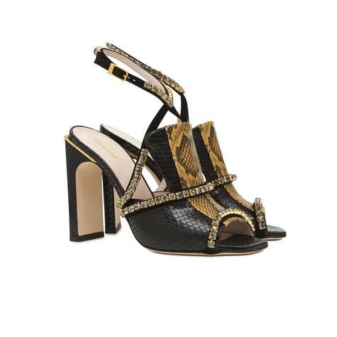 Sandals Black/mustard/black