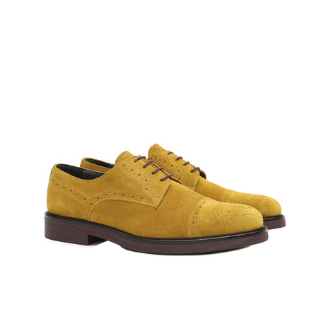 Derby shoes Mustard yellow