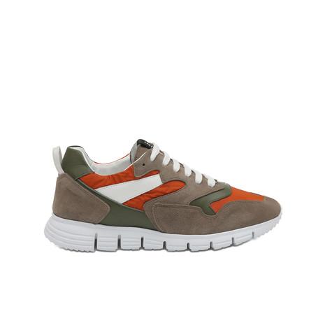 Sneakers Beige/orange/military green/white