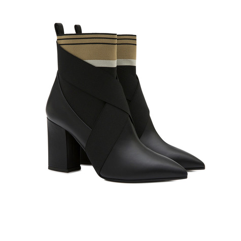 Ankle boots Black/beige-black