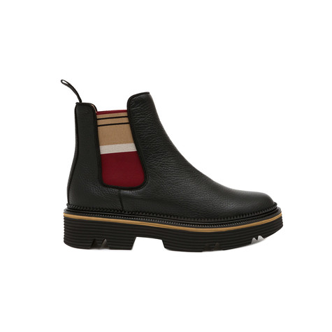 Ankle boots Black/beige-burgundy
