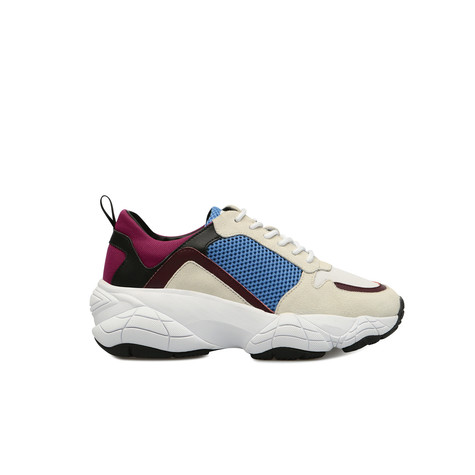 Sneakers White/white/light blue/burgundy/bla