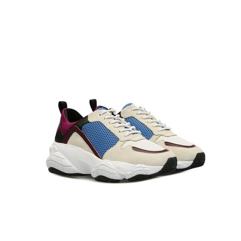 Sneakers Bianco/bianco/azzurro/borgogna/nero