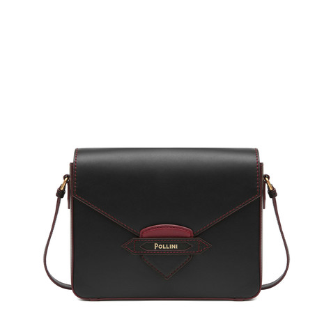Shoulder bag Black-bordeaux