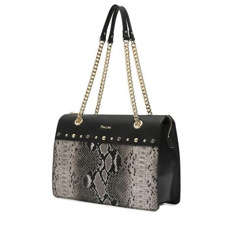 Hobo bag Beige/black