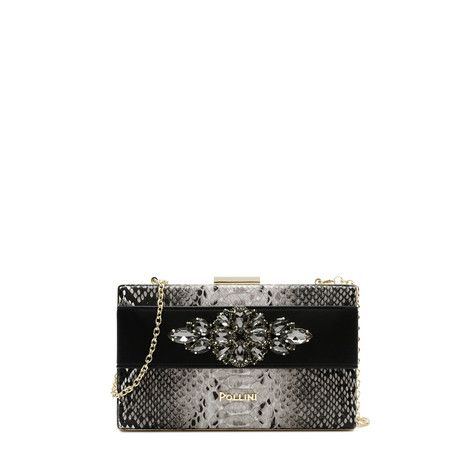 Clutch bag Beige/black