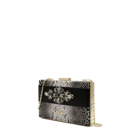 Clutch bag Beige/black