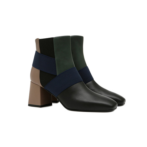 Ankle boots Black/bottle green/earth/black/ocea