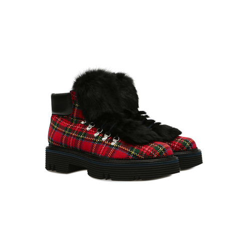 Ankle boots Scarlet/black
