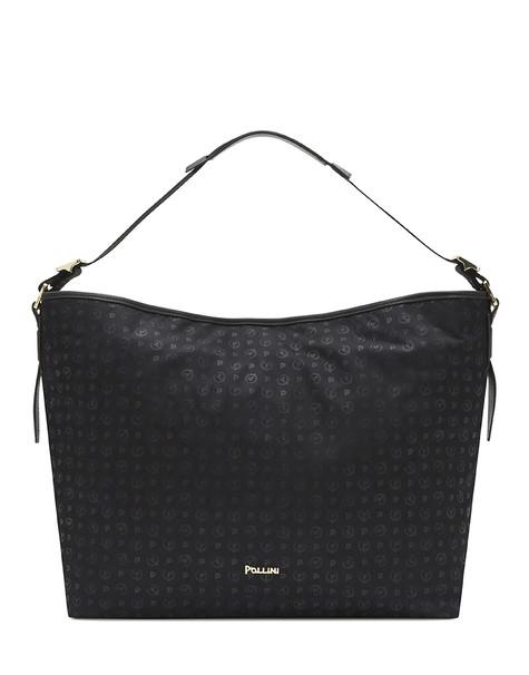 Heritage Logo Soft tote bag BLACK PRINT BLACK/BLACK