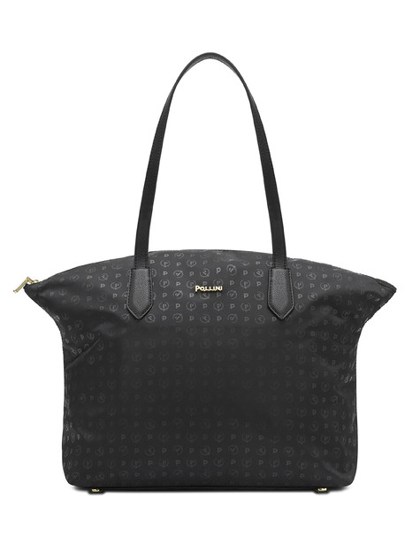 Shopping bag Black print black/black