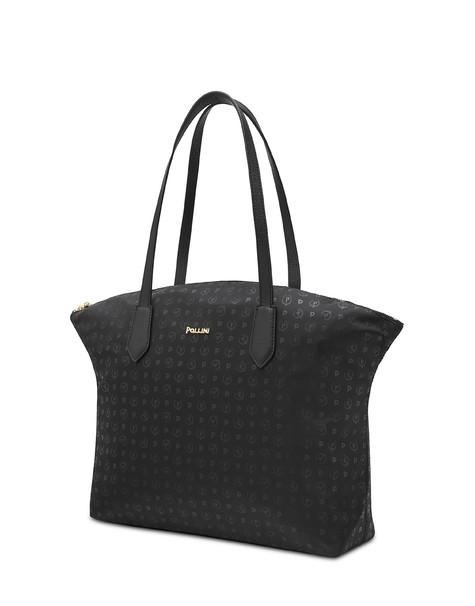 Heritage Logo Soft shopping bag BLACK PRINT BLACK/BLACK