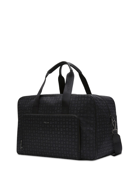 Travel bag Black print black/black
