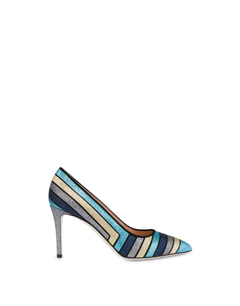 Pumps Sky-gold-iron-ocean/black