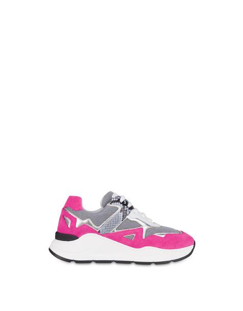 Sneakers Pietra/fuxia/argento/sky/bianco