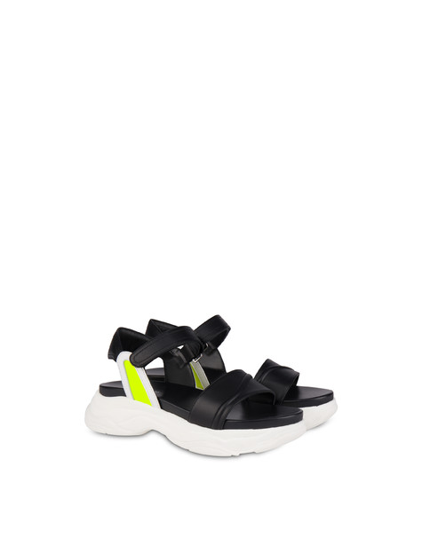 Sandals Black/white/yellow