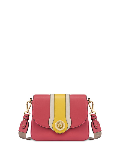 Shoulder bag Coral/ivory/yellow