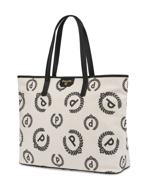 Shopping bag Ecru/black